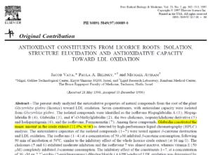 רמת גלברידין במיצוי ליקוריץ מתוך מחקרו של פרופ' מיכאל אבירם